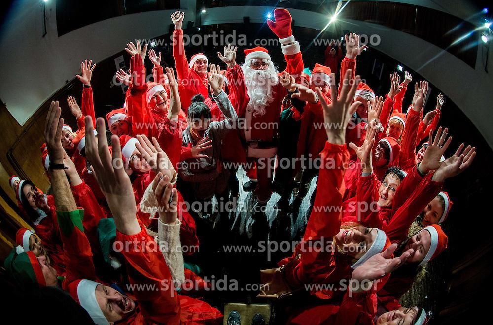Mercatorjeva Praznicna karavana z Bozickom in bozickovimi pomocniki je v 17 slovenskih krajih razveselila 2017 socialno ogrozenih otrok, on December 17, 2016 in Metlika, Crnomelj, Kocevje, Ribnica, Slovenia. Photo by Vid Ponikvar / Sportida