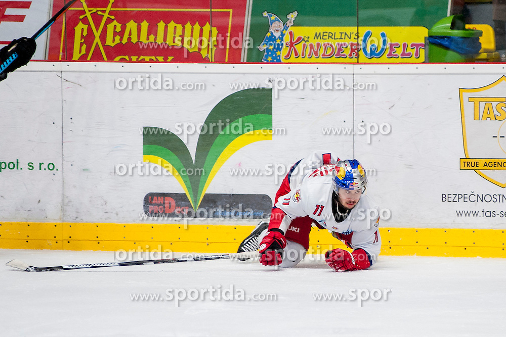 27.11.2016, Ice Rink, Znojmo, CZE, EBEL, HC Orli Znojmo vs EC Red Bull Salzburg, 24. Runde, im Bild Daniel Jakubitzka (EC Red Bull Salzburg ) // during the Erste Bank Icehockey League 24th round match between HC Orli Znojmo and EC Red Bull Salzburg at the Ice Rink in Znojmo, Czech Republic on 2016/11/27. EXPA Pictures © 2016, PhotoCredit: EXPA/ Rostislav Pfeffer