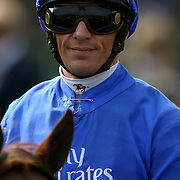 Jockey Frankie Dettori at Newmarket Racecourse,Suffolk.