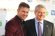 CANNES, FRANCE - APRIL 08:  Felix Baumgartner and Paull Zilk arrive at the MIPTV 50th Anniversary : Opening Party at the Martinez Hotel on April 8, 2013 in Cannes, France.  (Photo by Tony Barson/Getty Images)