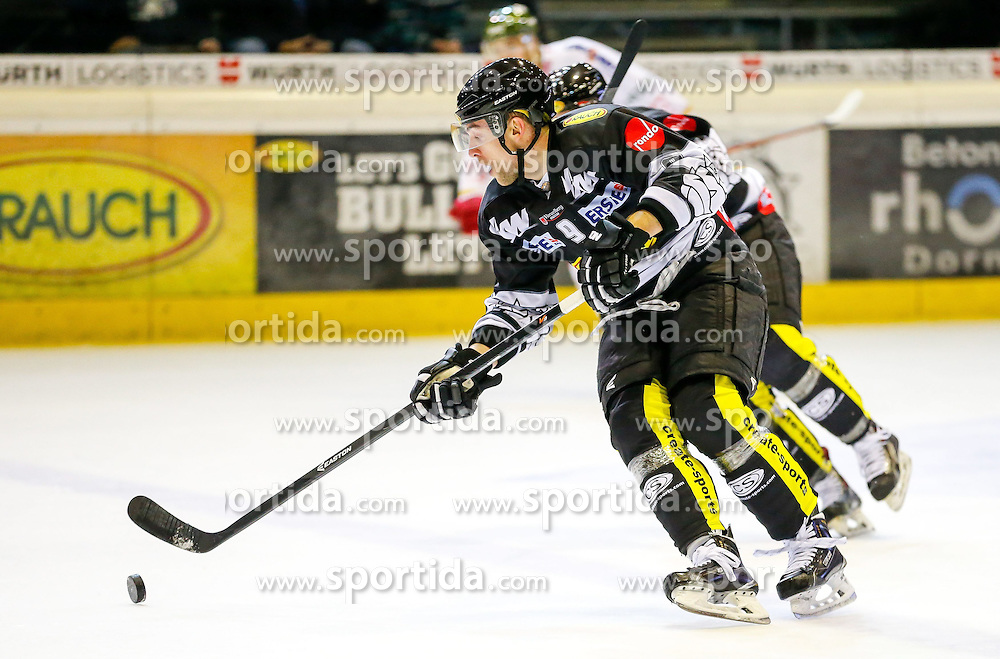 18.01.2015, Messestadion, Dornbirn, AUT, EBEL, Dornbirner EC vs HCB Suedtirol, 40. Runde, im Bild James Arniel, (Dornbirner EC, #09) // during the Erste Bank Icehockey League 40th round match between Dornbirner EC and HCB Suedtirol at the Messestadion in Dornbirn, Austria on 2015/01/18, EXPA Pictures © 2015, PhotoCredit: EXPA/ Peter Rinderer