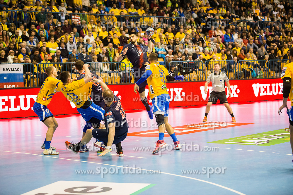 Luka Stepancic during handball match between RK Celje Pivovarna Lasko (SLO) and Paris Saint-Germain HB (FRA) in VELUX EHF Champions League 2018/19, on February 24, 2019 in Arena Zlatorog, Celje, Slovenia. Photo by Peter Podobnik / Sportida