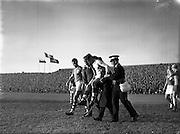 05/10/1958<br /> 10/05/1958<br /> 05 October 1958<br /> Soccer International: Ireland v Poland at Dalymount Park, Dublin. xa