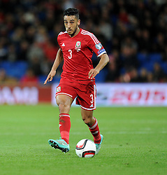 Wales Neil Taylor - Photo mandatory by-line: Alex James/JMP - Mobile: 07966 386802 - 13/10/2014 - SPORT - Football - Cardiff - Cardiff City Stadium - Wales v Cyprus - EURO 2016 Qualifiers
