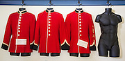 incomplete uniform display at Fort St.-Jean museum, Quebec