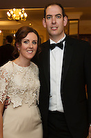 repro free: Malachy and  Julie  Conlon  BAM at the SCSI, Society of Chartered Surveyors of Ireland West branch Annual Dinner 2017 at the Ardilaun Hotel, Galway. Photo:Andrew Downes.