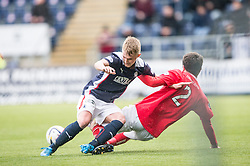 Falkirk's Craig Sibbald tackles Brechin City&rsquo;s Paul McLean. <br /> Falkirk 2 v 1 Brechin City, Scottish Cup fifth round game played today at The Falkirk Stadium.