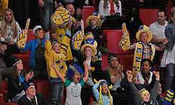 01.05.2013, Globe Arena, Stockholm, SWE, IIHF, Eishockey WM, Vorberichte, im Bild Sverige Sweden publik supporter // during the IIHF Icehockey World Championship Game between Canada and Sweden at the Ericsson Globe, Stockholm, Sweden on 2013/05/16. EXPA Pictures © 2013, PhotoCredit: EXPA/ PicAgency Skycam/ Simone Syversson..***** ATTENTION - OUT OF SWE *****
