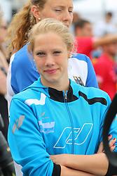 13.08.2014, Regattastrecke Gr&uuml;nau, Berlin, GER, LEN, Schwimm EM 2014, Freiwasser Wettbewerbe, 10 KM Frauen, im Bild Finnia Wunram (SC Magdeburg) wurde 14. ueber 10 Kilometer // SPO during the women's 10 km Open water swimming of the LEN 2014 European Swimming Championships at the Regattastrecke Gr&uuml;nau in Berlin, Germany on 2014/08/13. EXPA Pictures &copy; 2014, PhotoCredit: EXPA/ Eibner-Pressefoto/ Hundt<br /> <br /> *****ATTENTION - OUT of GER*****