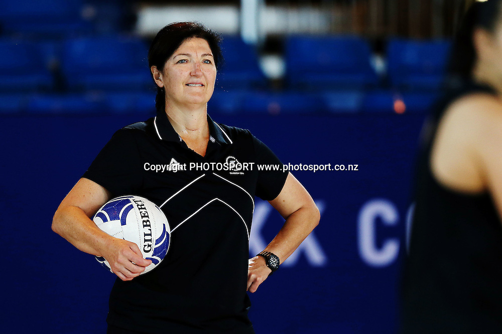 Assistant Coach Vicki Wilson of the Silver Ferns during a Netball training session. 2014 Glasgow Commonwealth Games. Scottish Exhibition Conference Centre, Glasgow, Scotland. Wednesday 23rd July 2014. Photo: Anthony Au-Yeung / photosport.co.nz