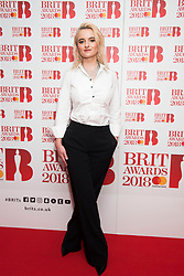 EDITORIAL USE ONLY XXXX Grace Chatto of Clean Bandit attending the Brit Awards 2018 Nominations event held at ITV Studios on Southbank, London. Photo credit should read: David Jensen/EMPICS Entertainment