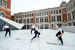 June 28, 2017 - London, London, UK - Julie Cunningham & Company dancers perform in The Sackler Courtyard as part of the new V&A Exhibition Road Quarter. (Credit Image: © Ray Tang via ZUMA Wire)