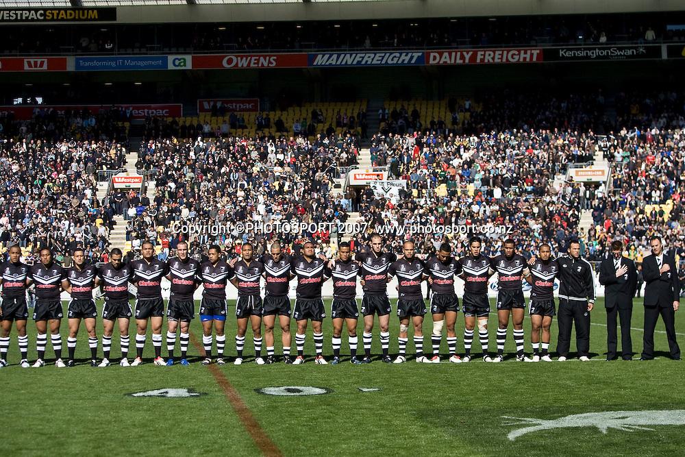Kiwis v Kangaroos. International Rugby League, Centenary Test. Westpac Stadium, Wellington, New Zealand. Sunday 14 October 2007. Photo: Aaron Smale/PHOTOSPORT