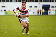 Bradford Bulls second row James Bentley (20) in action  during the Kingstone Press Championship match between Swinton Lions and Bradford Bulls at the Willows, Salford, United Kingdom on 20 August 2017. Photo by Simon Davies.