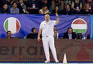 Referee Stanko Ivanovski MNE Montenegro<br /> Italy ITA (White cup) Vs Hungary HUN (Blue cup)<br /> Waterpolo Women's FINA Europa Cup<br /> Piscina Monte Bianco - Verona VR<br /> Photo Pasquale Mesiano/ Deepbluemedia /Insidefoto