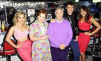 Heidi Range; Cheryl Baker; Henry Winkler; Ben Freeman; Amy Anzel, Happy Days: A New Musical - photocall, Ed's Easy Diner, London UK, 08 January 2014, Photo by Richard Goldschmidt