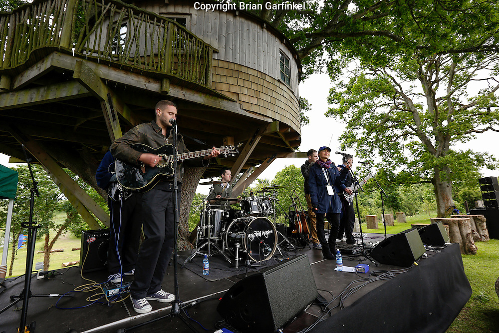 The Amazing Apples perform at the Caulfield/Mulryan family reunion at Ardenode Stud, County Kildare, Ireland on Sunday, June 23rd 2013. (Photo by Brian Garfinkel)