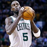 21 December 2012: Boston Celtics power forward Kevin Garnett (5) is seen during the Milwaukee Bucks 99-94 overtime victory over the Boston Celtics at the TD Garden, Boston, Massachusetts, USA.