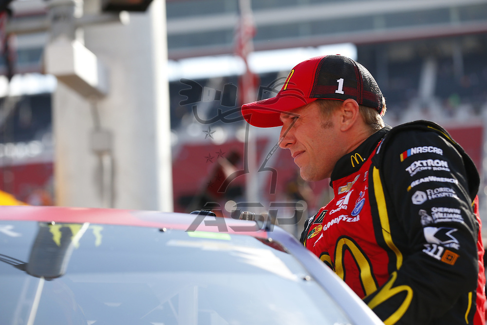 August 18, 2017 - Bristol, Tennessee, USA: Jamie McMurray (1) hangs out on pit road prior to qualifying for the Bass Pro Shops NRA Night Race at Bristol Motor Speedway in Bristol, Tennessee.