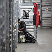 WASHINGTON, DC-OCT16: Many of the area homeless have possessions they want to keep safe, just nowhere permanent to live, so they store their belongings at Capital Self-Storage, where an upper-level unit costs $30/month. Some of the homeless patrons also spend their days in their storage units, when shelters are closed during midday hours. The storage facility near 3rd and Florida Avenue in Northeast, Washington, DC, is about to be replaced by a boutique hotel. (Photo by Evelyn Hockstein/For The Washington Post)