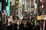 crowded street in the Akihabara district in Tokyo