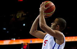 Tony Parker of France during basketball game between National basketball teams of France and Russia in 2nd Semifinal of FIBA Europe Eurobasket Lithuania 2011, on September 16, 2011, in Arena Zalgirio, Kaunas, Lithuania. France defeated Russia 79-71. (Photo by Vid Ponikvar / Sportida)