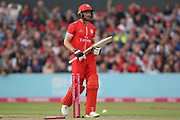 Lancashires Jos Buttler (Wicket Keeper) run out during the Vitality T20 Blast North Group match between Lancashire County Cricket Club and Yorkshire County Cricket Club at the Emirates, Old Trafford, Manchester, United Kingdom on 20 July 2018. Picture by George Franks.