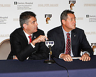 FIU/Baptist Hospital Press Coference.  Mr. Pete Garcia and Mr. Nelson Lazo.