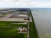 Nederland, Noord-Holland, Gemeente Wieringermeer, 16-04-2012. Wieringermeer en Wieringermeerdijk, richting Dijkgatbos en Afsluitdijk...Wieringmeer polder,  newly created land 1927, part of the Zuiderzee Works..luchtfoto (toeslag), aerial photo (additional fee required);.copyright foto/photo Siebe Swa