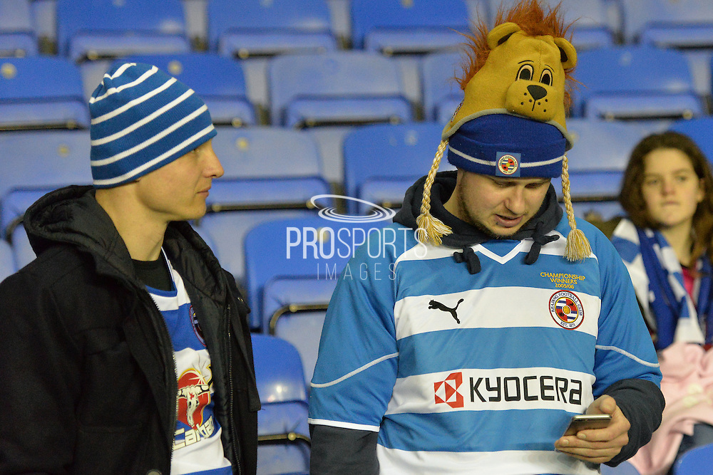Reading fans before the The FA Cup Quarter Final match between Reading and Crystal Palace at the Madejski Stadium, Reading, England on 11 March 2016. Photo by Mark Davies.