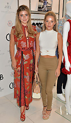 Left to right, NATALIE JOEL and LAUREN HUTTON at the launch for the collaboration of Joel Swimwear for Collier Bristow held at Collier Bristow, 61 King's Road, Chelsea, London on 11th August 2016.