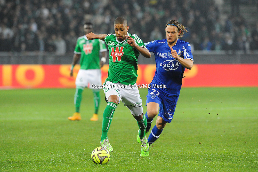 Kevin MONNET PAQUET - 06.12.2014 - Saint Etienne / Bastia - 17eme journee de Ligue 1 -<br />