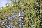 Solar panel used in remote areas to collect energy to run a light or other small utility