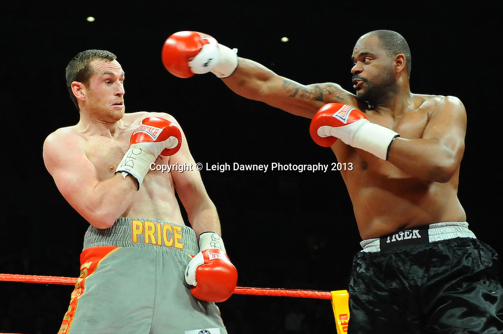 Tony Thompson defeats David Price in the 2nd round of a 12x3 Heavyweight contest at the Echo Arena, Liverpool, United Kingdom on the 23rd February 2013. Frank Maloney Promotions. © Leigh Dawney Photography 2013