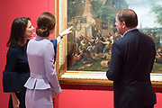 Her Royal Highness The Duchess of Cambridge visit to the Netherlands <br /> <br /> The Duchess visits the Mauritshuis in The Hague for the exhibition 'At Home in Holland: Vermeer and his Contemporaries from the British Royal Collection'. The 23 works selected for this exhibition are some of the finest 17th-century genre paintings by Dutch artists in the Royal Collection.