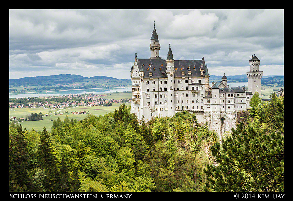 Schloss Neuschwanstein from Marienbr&uuml;cke Bridge<br /> Germany<br /> May 2014