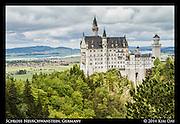 Schloss Neuschwanstein from Marienbrücke Bridge<br /> Germany<br /> May 2014