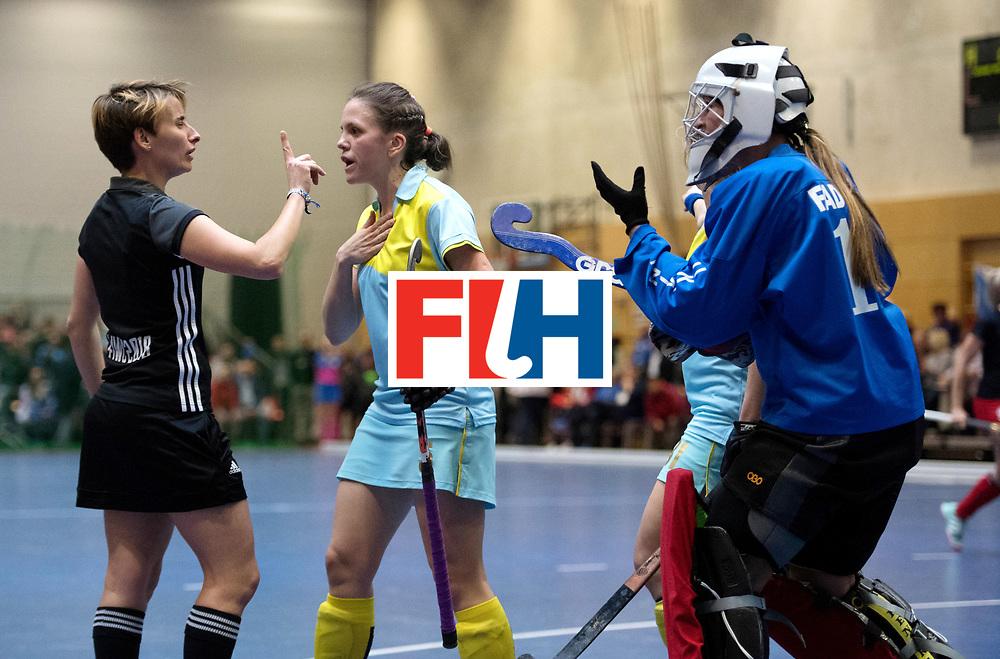 BERLIN - Indoor Hockey World Cup<br /> Women: Ukraine - Czech Republic<br /> foto: MOROZ Yevheniya.<br /> WORLDSPORTPICS COPYRIGHT FRANK UIJLENBROEK