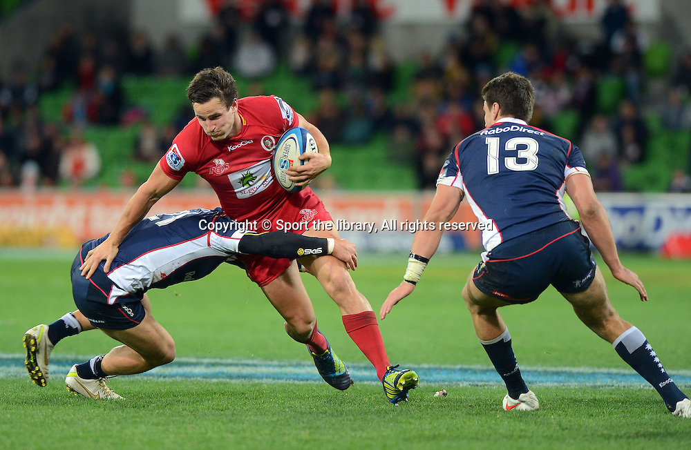 Mike Harris (REDS)<br /> Rugby Union - 2012 Super Rugby<br /> Melbourne Rebels vs QLD Reds<br /> AAMI Park, Melbourne<br /> Friday 29 June 2012<br /> &copy; Sport the library/ Jeff Crow