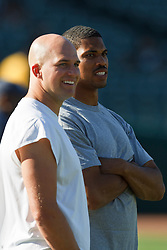 September 2, 2010; Oakland, CA, USA;  before the game at Oakland-Alameda County Coliseum.