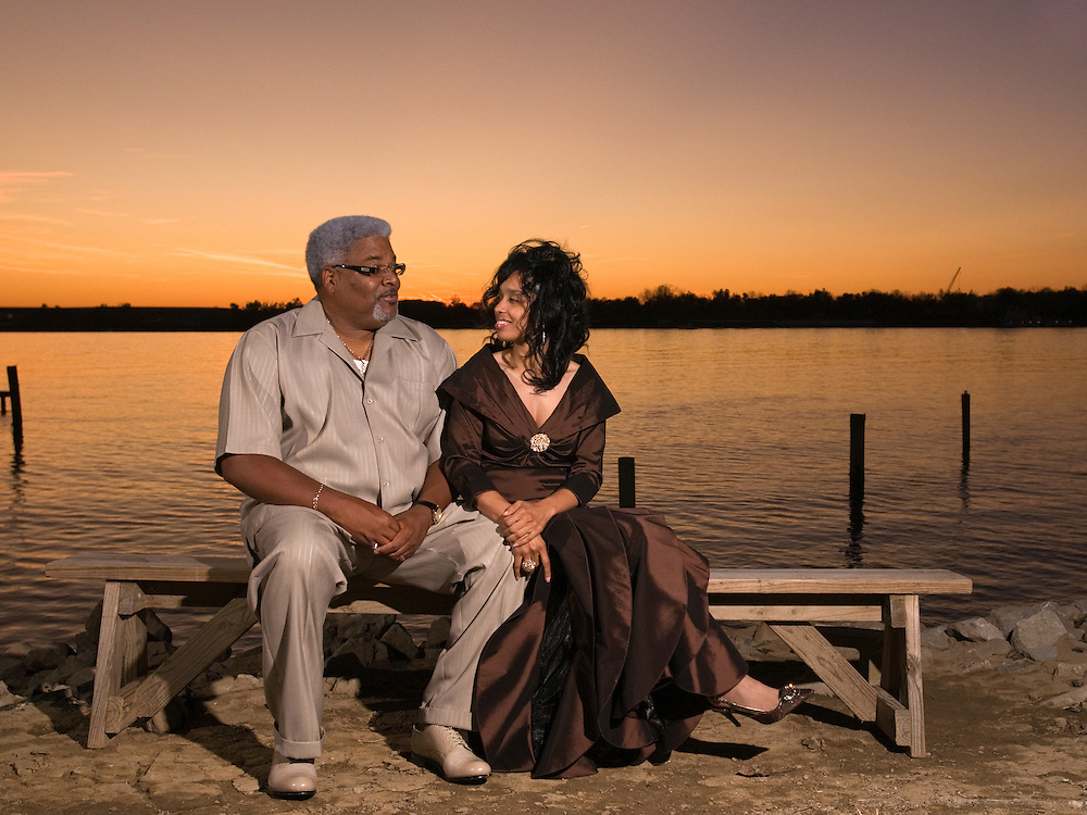 Bedeliah and Wayne's riverside portrait.