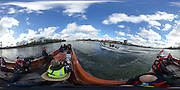 London. UNITED KINGDOM.  360 degree view of the The 71st Newton Women's Boat Race, in progress, on the Championship Course, River Thames, Putney/Mortlake.  Sunday  27/03/2016    [Mandatory Credit. Intersport Images]<br /> <br /> Oxford University Women's Boat Club {OUWBC} vs Cambridge University Women's Boat Club {CUWBC} <br /> <br /> Oxford, Crew Cox &ndash; Morgan Baynham-Williams, Stroke &ndash; Lauren Kedar, 7 &ndash; Maddy Badcott, 6 &ndash; Anastasia Chitty, 5 &ndash; Elo Luik, 4 &ndash; Ruth Siddorn, 3 &ndash; Joanneke Jansen, 2 &ndash; Emma Spruce, Bow &ndash; Emma Lukasiewicz<br /> <br /> Cambridge, Crew Bow Ashton Brown, 2 Fiona Macklin, 3 Alice Jackson, 4 Thea Zabell, 5 Daphne Martschenko, 6 Myriam Goudet, 7 Hannah Roberts, Stroke Zara Goozee, Cox Rosemary Ostfeld.
