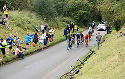Riders climb Brill Hill during stage seven of the OVO Energy Tour of Britain from Hemel Hempstead to Cheltenham.