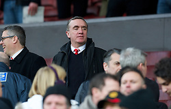 MANCHESTER, ENGLAND - Sunday, January 13, 2013: Liverpool's Managing Director Ian Ayre during the Premiership match against Manchester United at Old Trafford. (Pic by David Rawcliffe/Propaganda)