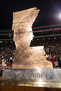 FAYETTEVILLE, AR - NOVEMBER 15:  The Boot trophy that goes with the winner of the game between the LSU Tigers and the Arkansas Razorbacks at Razorback Stadium on November 15, 2014 in Fayetteville, Arkansas.  The Razorbacks defeated the Tigers 17-0.  (Photo by Wesley Hitt/Getty Images) *** Local Caption ***