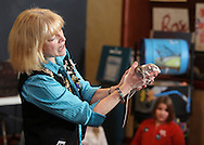 "Middletown, NY - Jan Berlin, director of Everything Animals Resource Center, shows two domestic rats to children at the Interactive Museum during her program ""Live Animals from Around the World"" on Feb. 7, 2010."