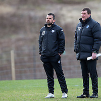St Johnstone Training...20.03.15<br /> Tommy Wright and Callum Davidson pictured in training this morning at McDiarmid Park ahead of tomorrow's game against St Mirren...<br /> Picture by Graeme Hart.<br /> Copyright Perthshire Picture Agency<br /> Tel: 01738 623350  Mobile: 07990 594431