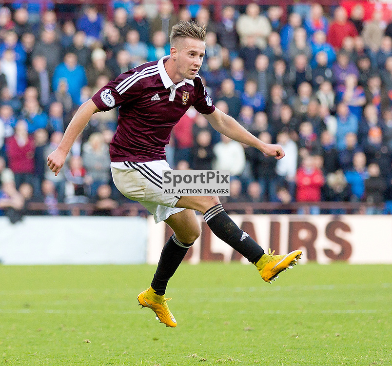 Hearts v Rangers Scottish Championship 22 November 2014; Heart's Billy King shoots during the Heart of Midlothian v Rangers Scottish Championship match played at Tynecastle Stadium, Edinburgh;