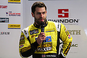 Former TV soap star, Kelvin Fletcher, talks to the media about joining the Power Maxed racing team.  BTCC season launch media day at Donington Park, Castle Donington, United Kingdom on 22 March 2016. Photo by Aaron Lupton.