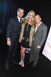Left to right, JAKE PARKINSON-SMITH,  JODIE KIDD and CARLO CARELLO at a party to celebrate the launch of the new 2&8 club at Morton's Berkeley Square, London on 27th September 2012.